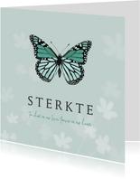 Condoleancekaart kind baby vlinder bloemen natuur