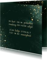 Condoleancekaart lichtpuntjes groen met spetters