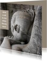 Condoleancekaart liggende Buddha - OT