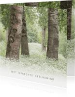 Condoleancekaart met bomen