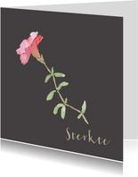 Condoleancekaart met een bloem tekening