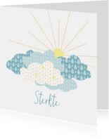 Condoleancekaart met wolken