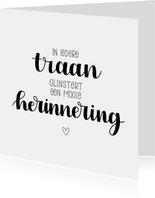Condoleancekaart - Mooie herinnering