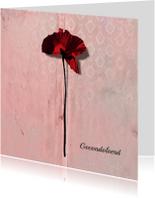 Condoleancekaart poppy Klaproos