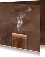 Condoleancekaart rook en vogel