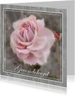 Condoleancekaart, Roos in een grijze lijst