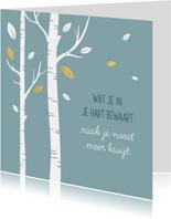 Condoleancekaart vallende bladeren
