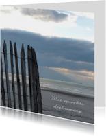 Condoleancekaart verlaten strand met spreuk - SK