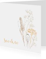 Condoleancekaart wilde bloemen