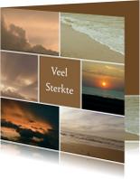 Condoleancekaart zee en wolken - SK