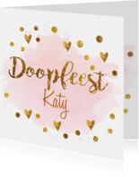 confetti doopkaart
