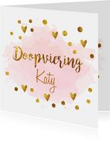 Confetti doopvieringkaart