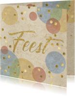 confetti uitnodiging verjaardagsfeest