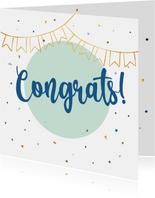 Congrats! - felicitatiekaart algemeen