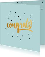 Congrats  gold felicitatiekaart