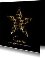 Corona zakelijke nieuwjaarskaart - samen op 1,5 meter ster