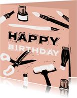 Creatieve verjaardagskaart