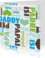 Daddy engels frans vaderdag kaartje