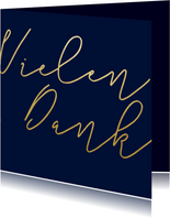 Dankeskarte Hochzeit Goldene Schrift