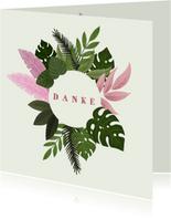 Dankeskarte zur Geburt botanisch Foto innen