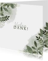 Dankeskarte zur Hochzeit botanisch mit Foto und Wasserfarbe