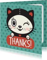 Bedankkaartjes - Dankjewel kat - TW