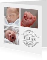 Danksagung Geburt eigene Fotos & Stempel