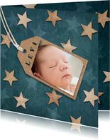 Danksagung Geburt Foto & Holzsterne