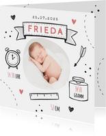 Danksagung Geburt Mädchen Fotos & Doodles