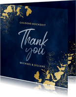 Danksagung Goldene Hochzeit 'Thank you'