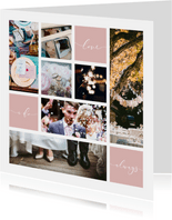 Danksagung Hochzeit viele eigene Fotos grafisch