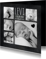 Danksagung zur Geburt Fotocollage auf Kreidetafel