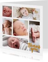 Danksagung zur Geburt viele Fotos