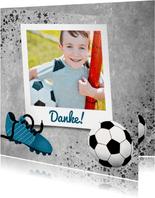 Danksagung zur Kommunion Foto & Fußball