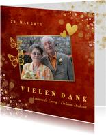Danksagungskarte Goldene Hochzeit Foto & Gold