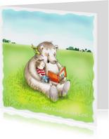 De beer leest voor