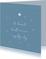 Condoleancekaarten - De hemel heeft er een engeltje bij condoleance kaart
