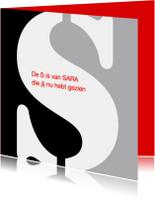 Verjaardagskaarten - De S van Sara