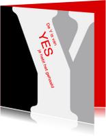 Geslaagd kaarten - De Y van YES