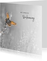 Deelneming met vlinder