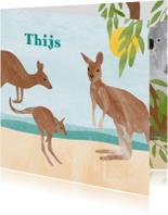 Dieren geboortekaartje kangoeroe
