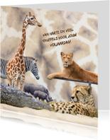 Dierenkaart giraffeprint