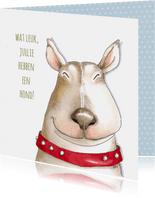 Dierenkaart - hoera jullie hebben een hond