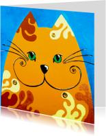 Dierenkaart kat goudlokje