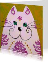 Dierenkaart kat uit India