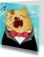 Dierenkaart katten zanger