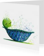 Dierenkaart schildpad bad