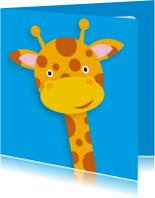 Dierenkaart Vrolijke Giraffe