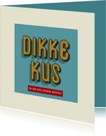 Dikke kus - retro - zomaarkaart