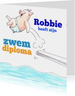 Diploma zwemmen jongen
